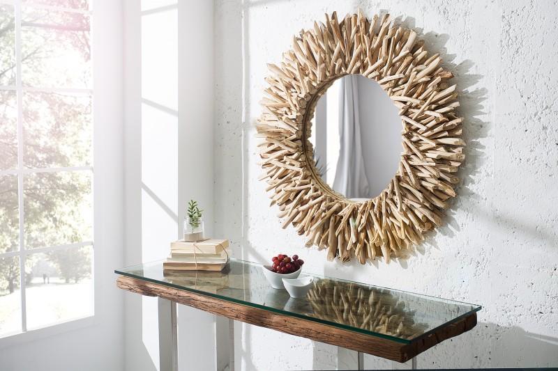 c213e7fa300f Nástenné zrkadlo Riverside 80 cm z prírodného dreva