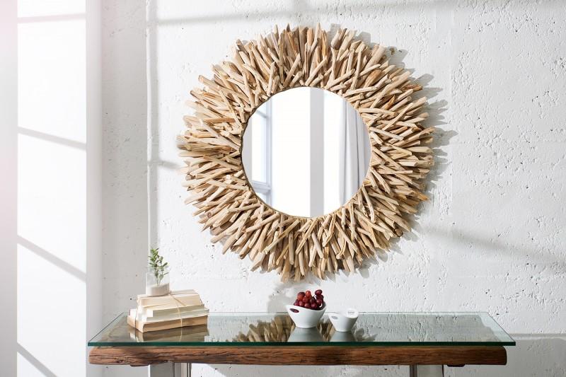 5bc949657e94 Nástenné zrkadlo Riverside 80 cm z prírodného dreva ...
